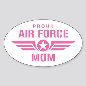 Proud Air Force Mom W [pink] Sticker (Oval)
